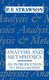 Analysis and MetaphysicsAn Introduction to Philosophy