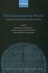 The Unaccusativity PuzzleExplorations of the Syntax-Lexicon Interface