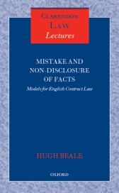 Mistake and Non-Disclosure of Facts: Models for English Contract Law